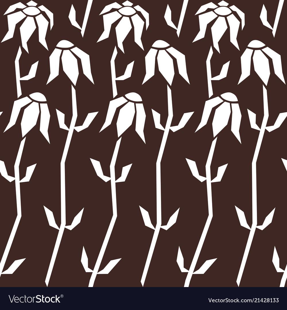 Floral seamless pattern background stylized