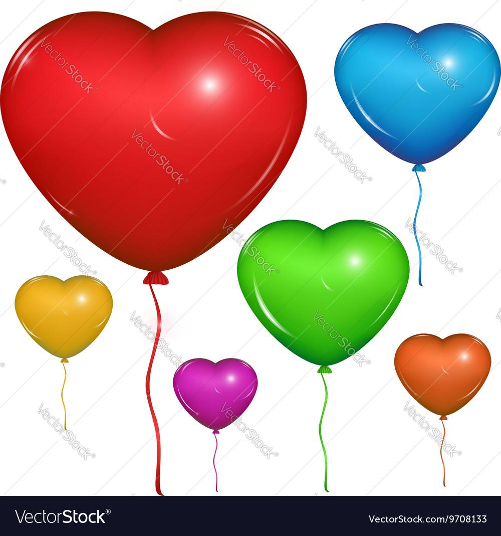 Heart Baloon Color set