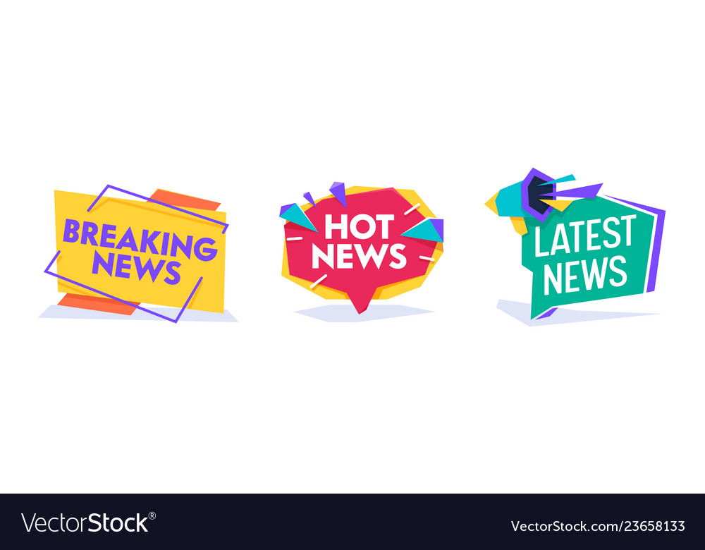 Hot news world breaking reportage banner template