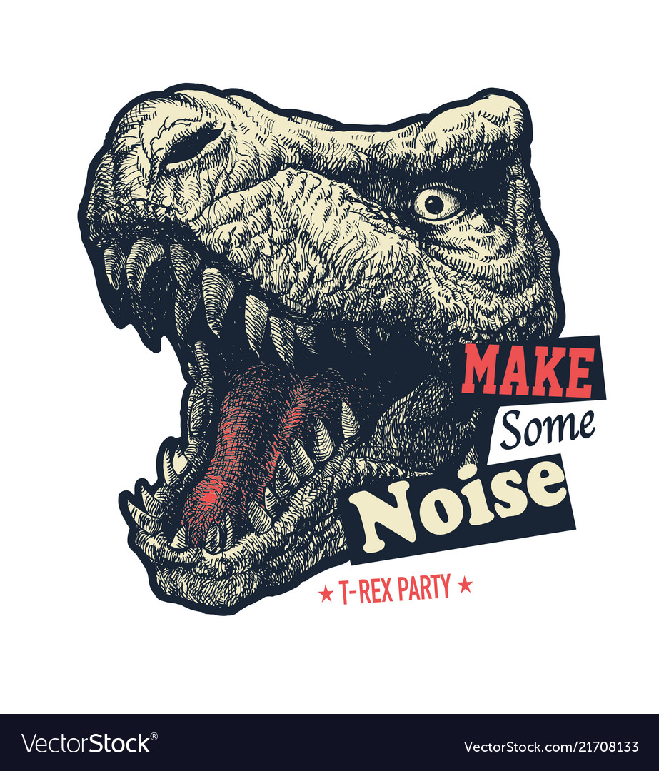 baf51f8c Make some noise slogan graphic Royalty Free Vector Image