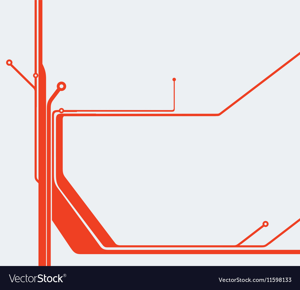 Red abstract technology circuit board