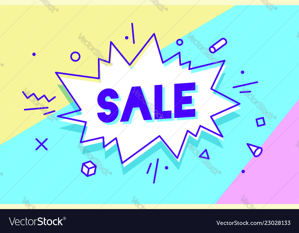 Sale speech bubble banner poster and sticker
