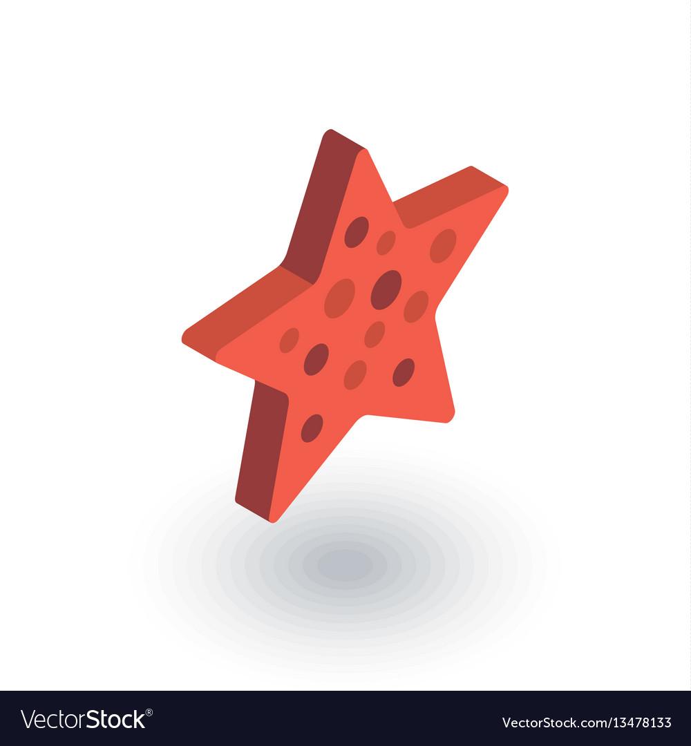 Starfish isometric flat icon 3d
