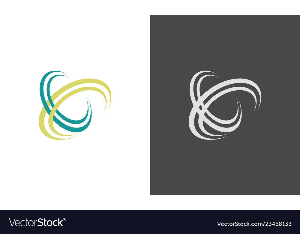 Swirl letter x logo