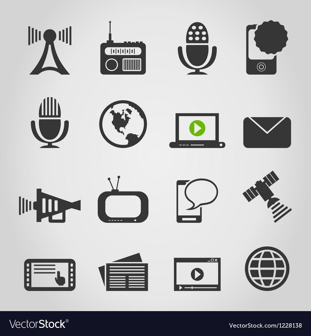 Icon communication5 vector image