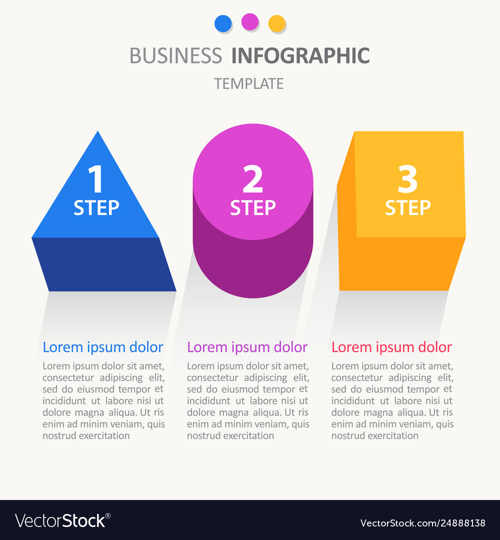Infographic business template workflow layout