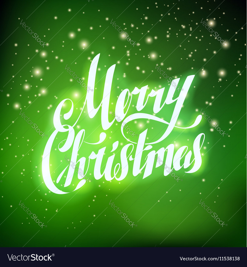 Merry christmas hand lettering greating card