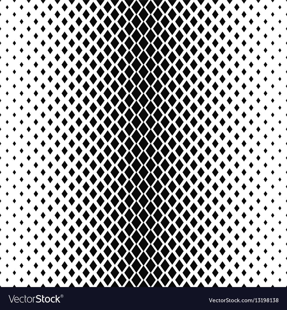 Monochrome rhombus shape pattern design background vector image