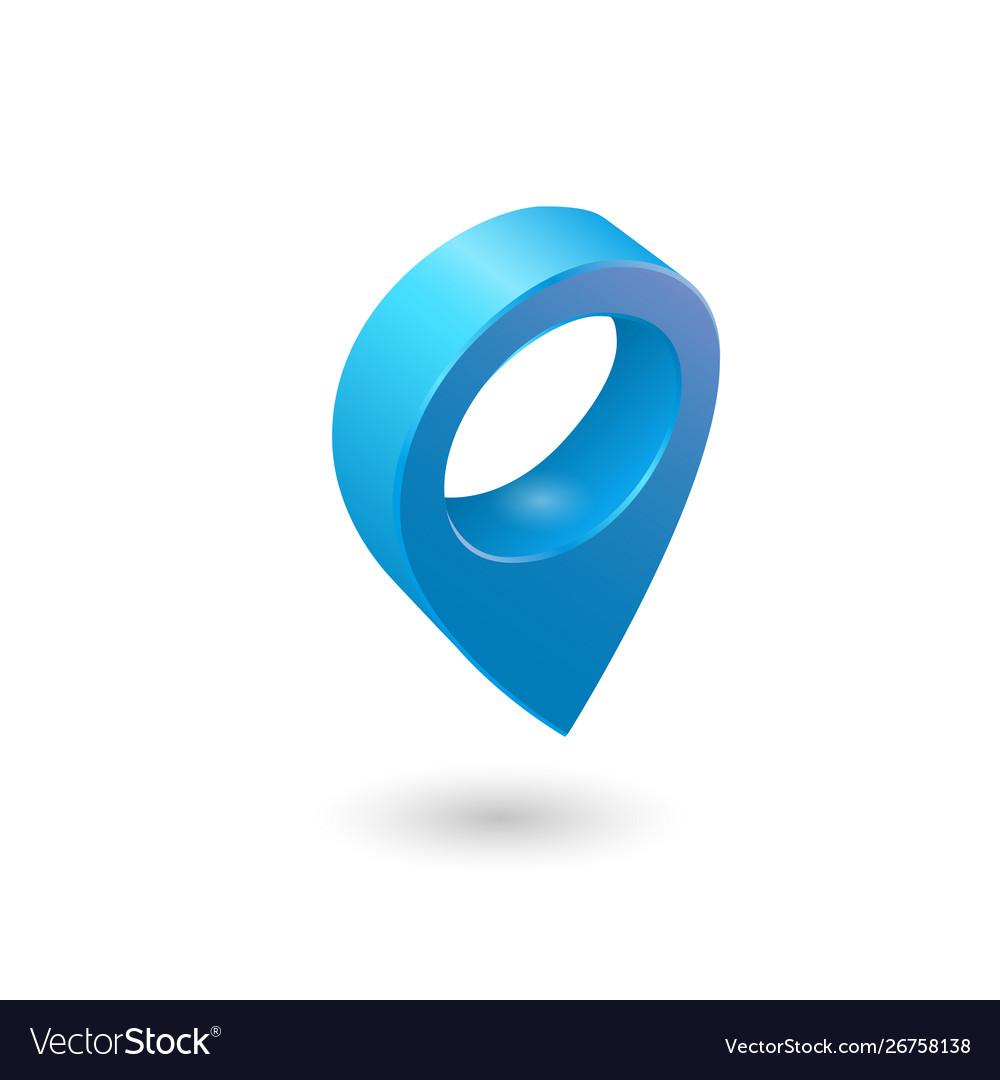 Set map pointer 3d pin location symbols