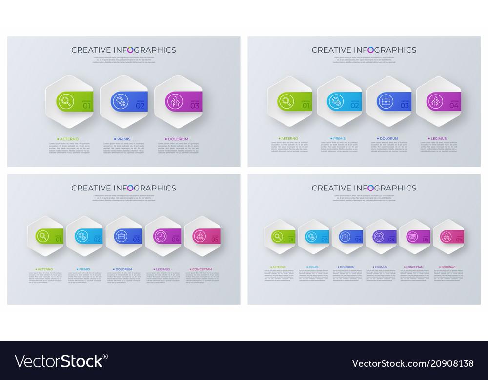 Set of contemporary minimalist infographic