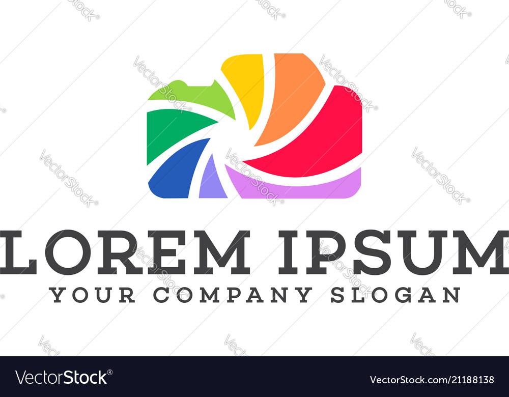 Shot photograpy logo design concept template