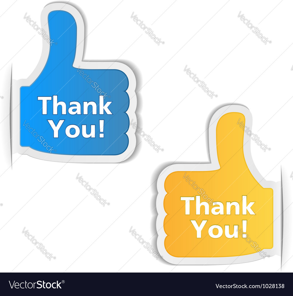 Thank You Labels vector image