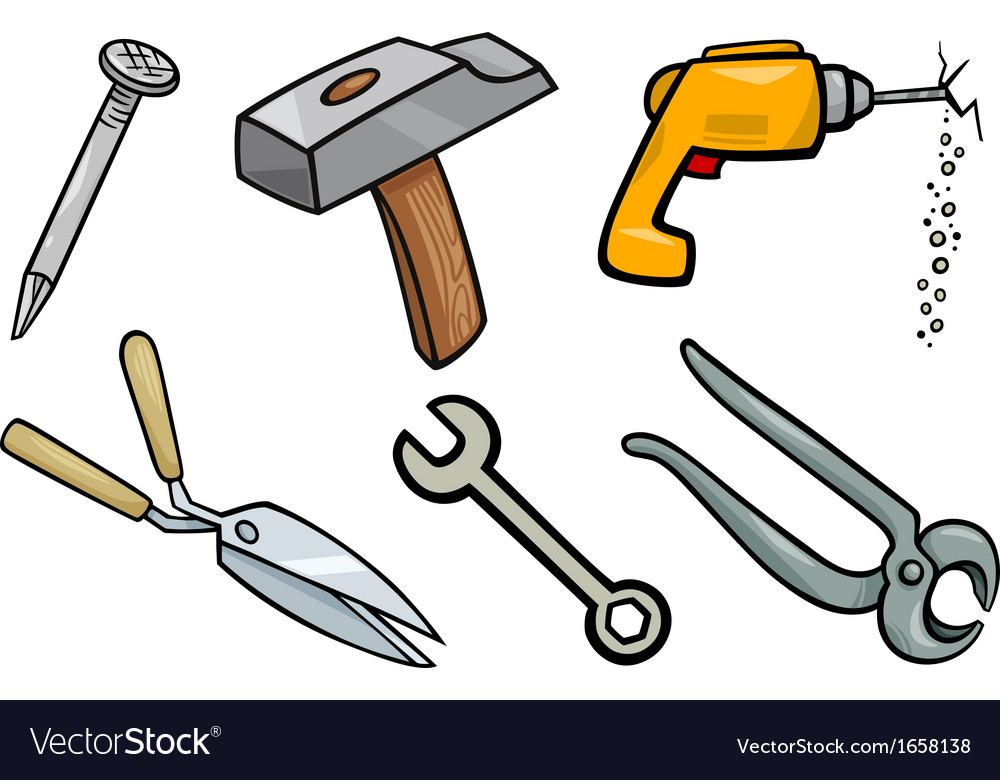 tools objects cartoon set royalty free vector image hand print clip art borders hand print clip art svg