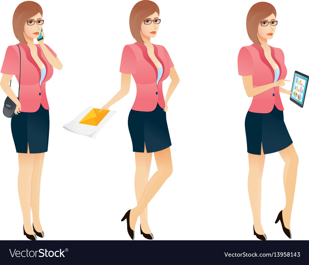 Free Sexy Secretary Pics cartoon sexy young business woman or secretary