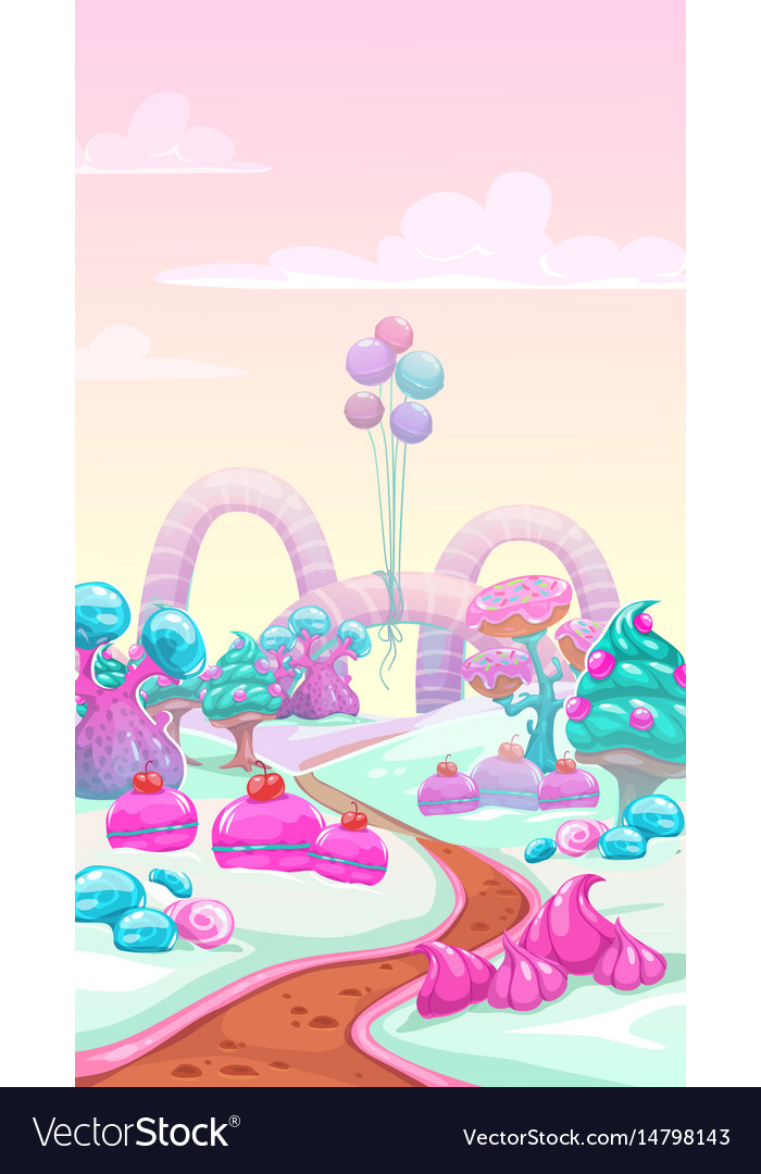 Cartoon sweet landscape