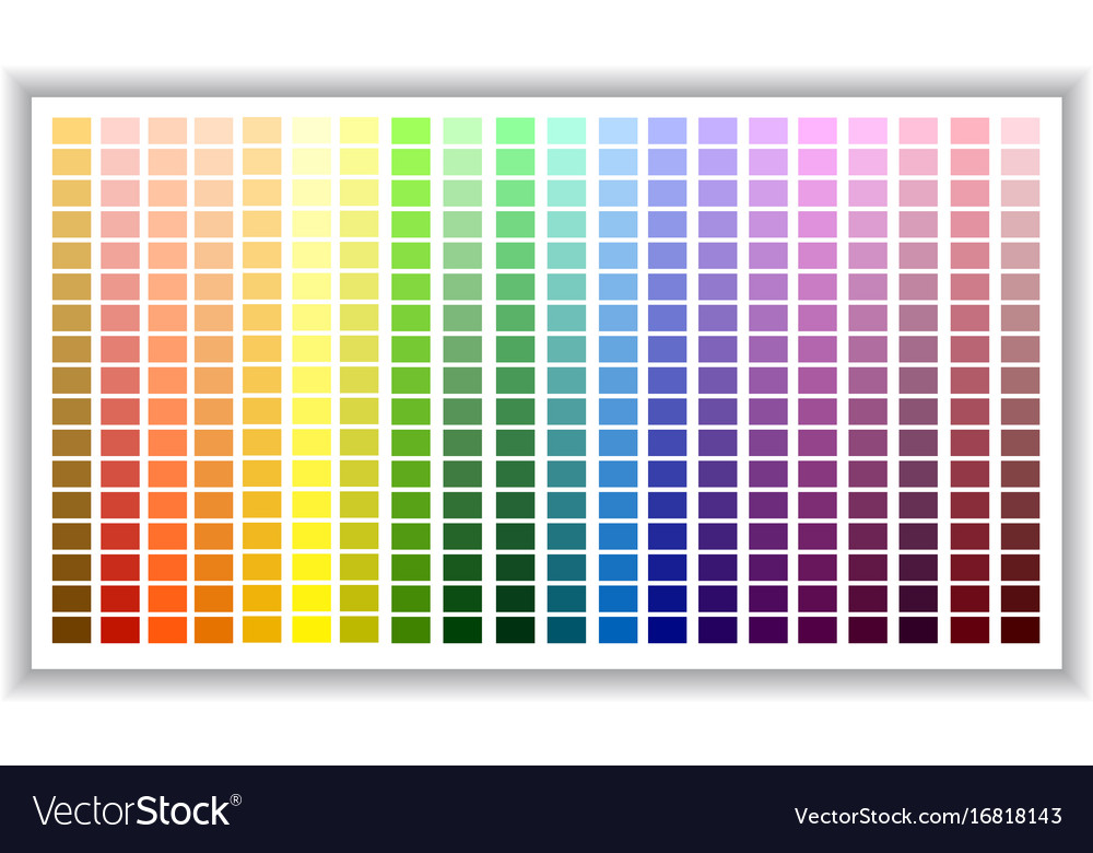 Color palette color shade chart Royalty Free Vector Image