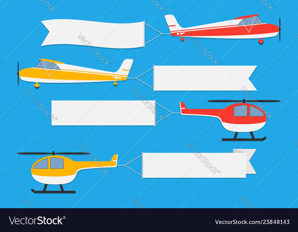 Flying planes and helicopters with banners