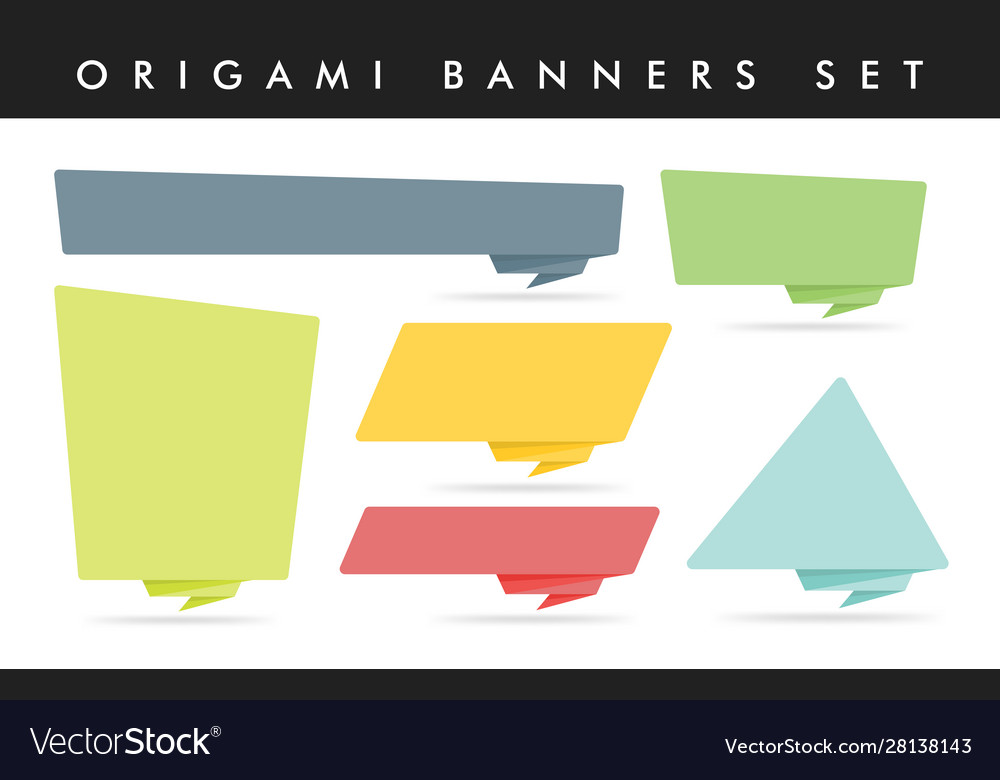 Origami style sticker and banner template