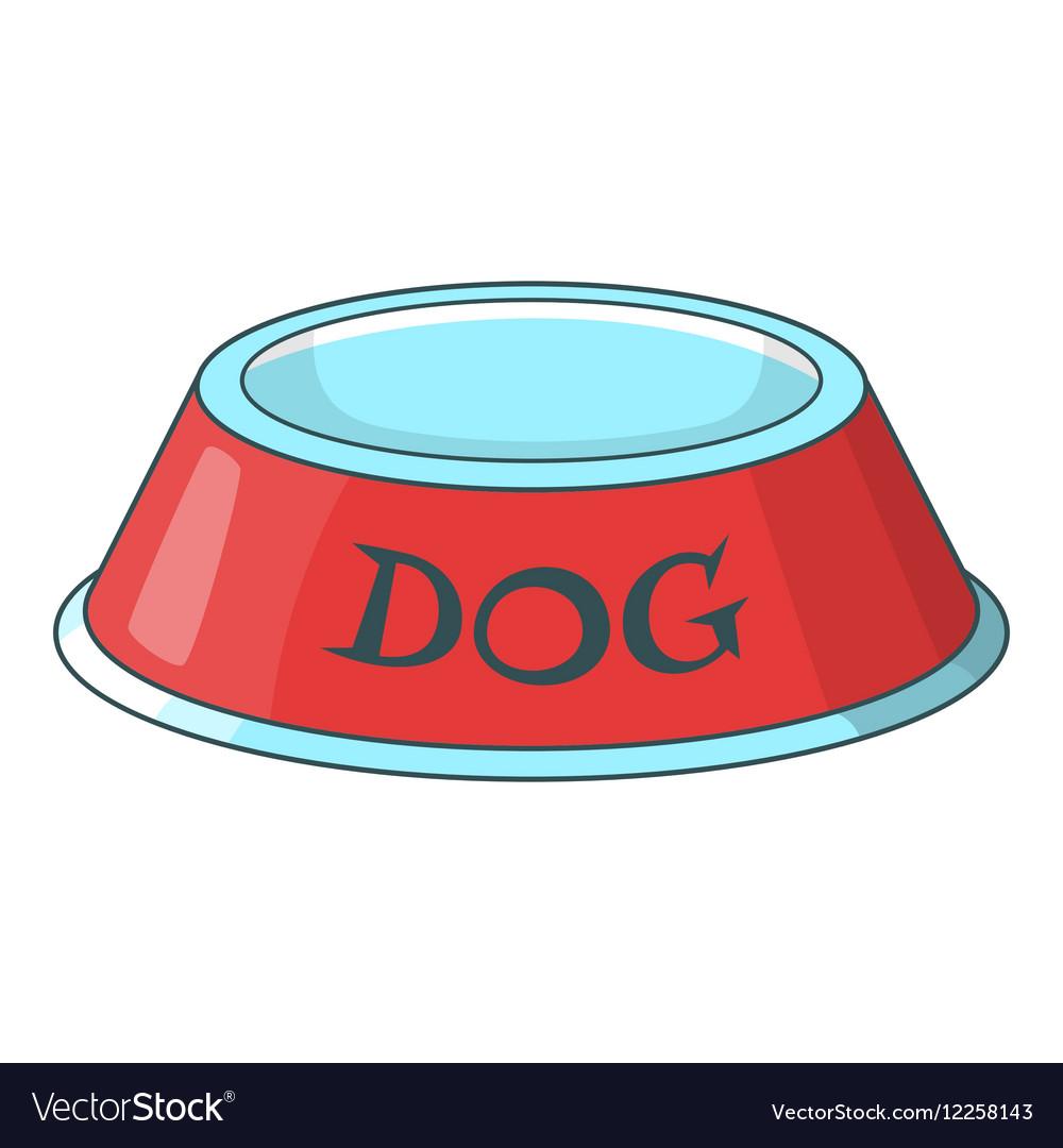 pet dog bowl icon cartoon style royalty free vector image