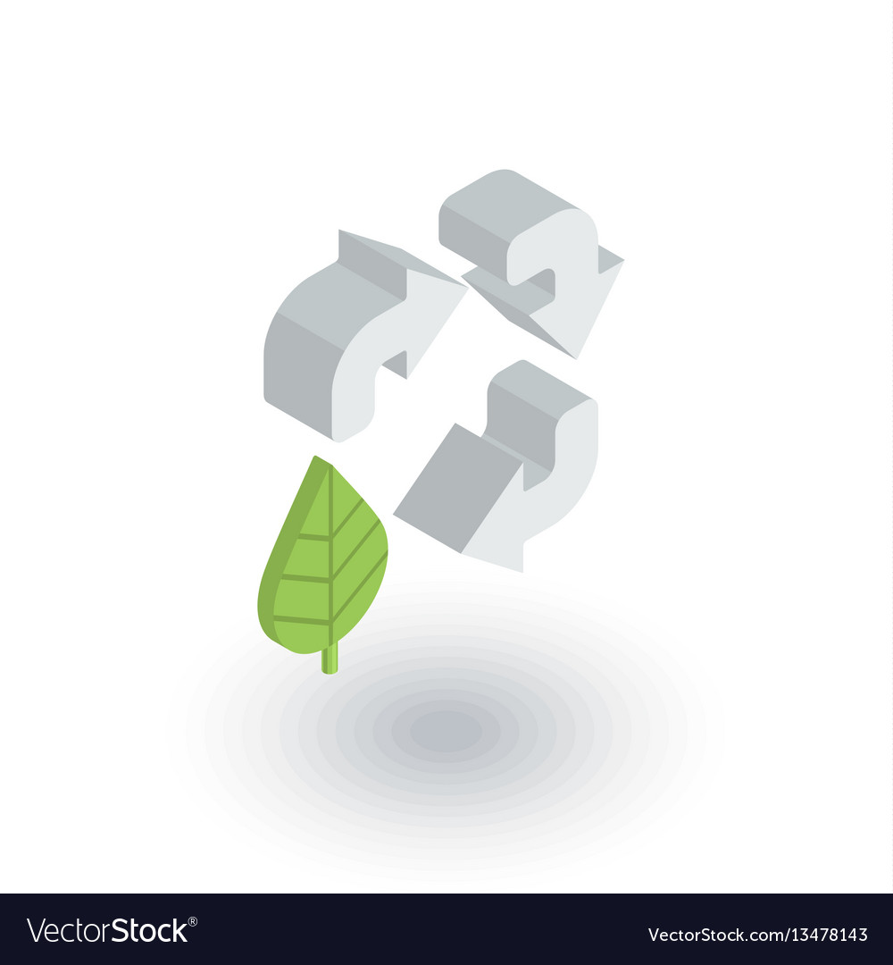 Recycle arrows and leaf environmental protection vector image