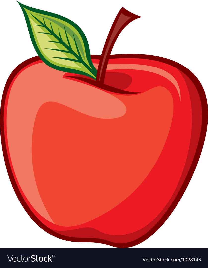 red apple royalty free vector image vectorstock rh vectorstock com apple vector png apple vector mockup