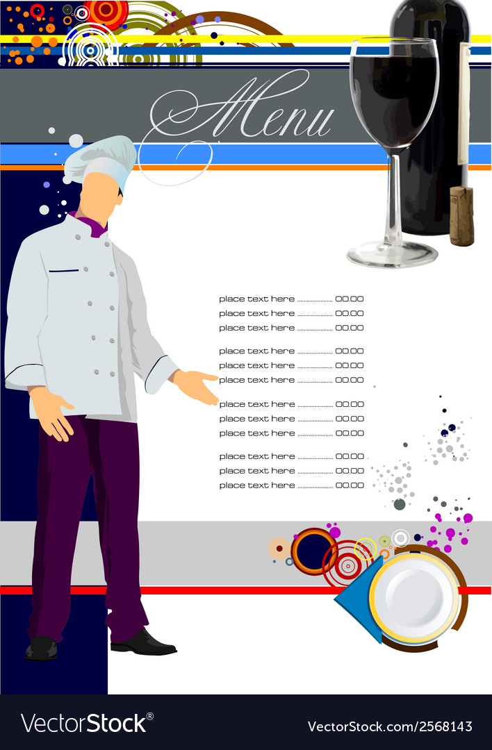 Restaurant menu 001