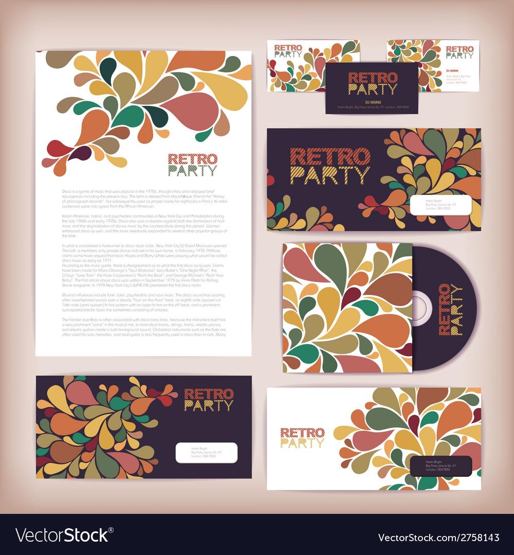 Retro disco concept design Corporate identity