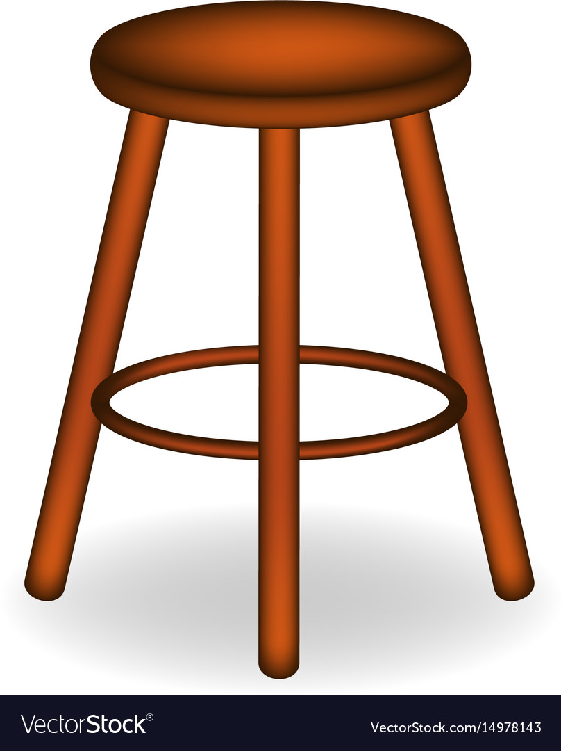 Retro stool in brown design