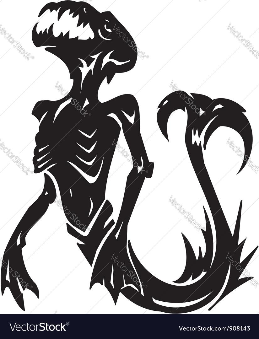 sea monster vinyl ready royalty free vector image