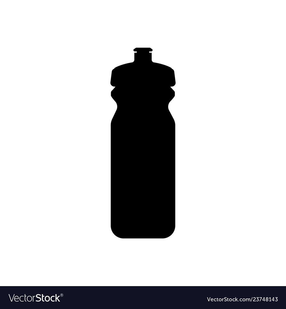 Sport bottle silhouette fitness equipment