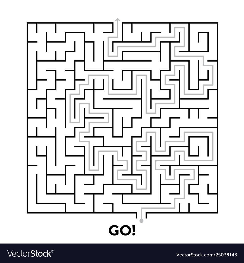 Square maze puzzle