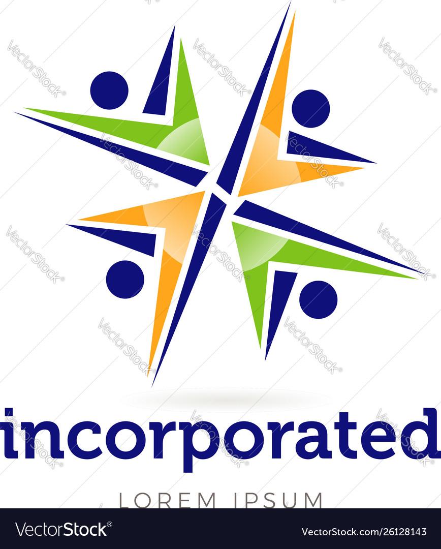 Vital logo business group people symbol logo icon