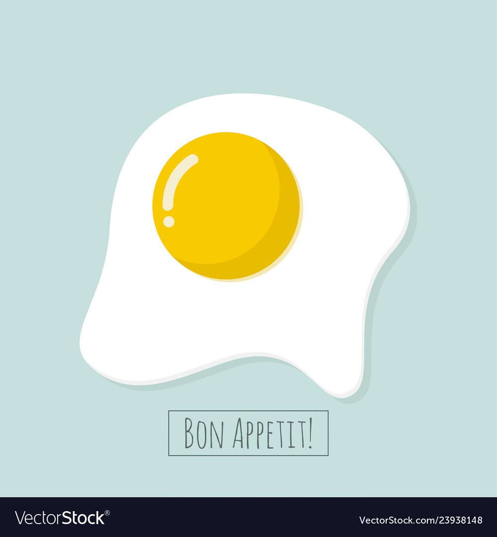 Appetizing cooked fried egg
