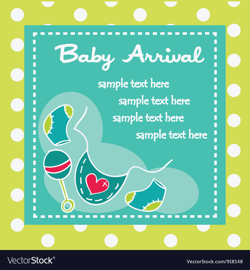 Baby arrival for boys