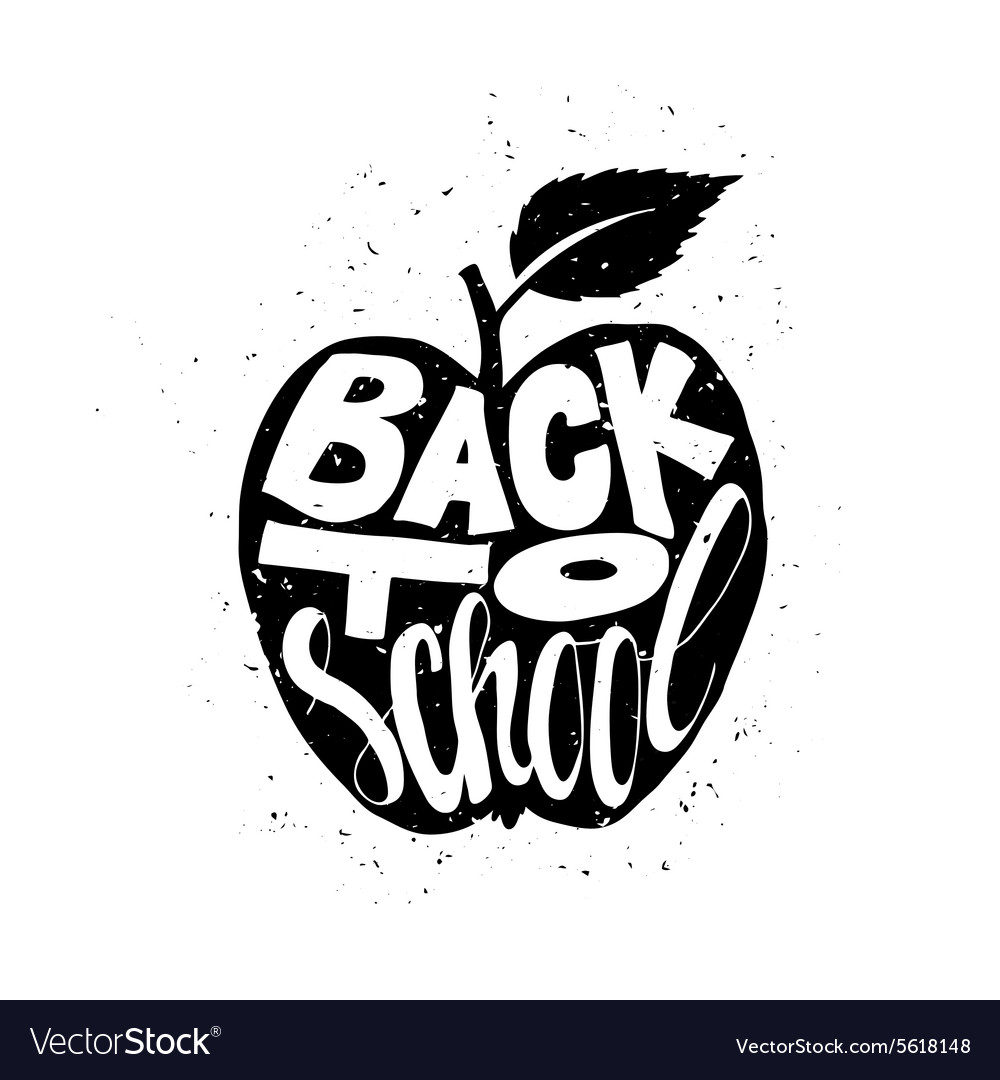Back to school poster with apple vector