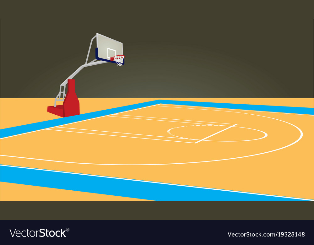 basketball court royalty free vector image vectorstock rh vectorstock com basketball court vector image basketball court vector free