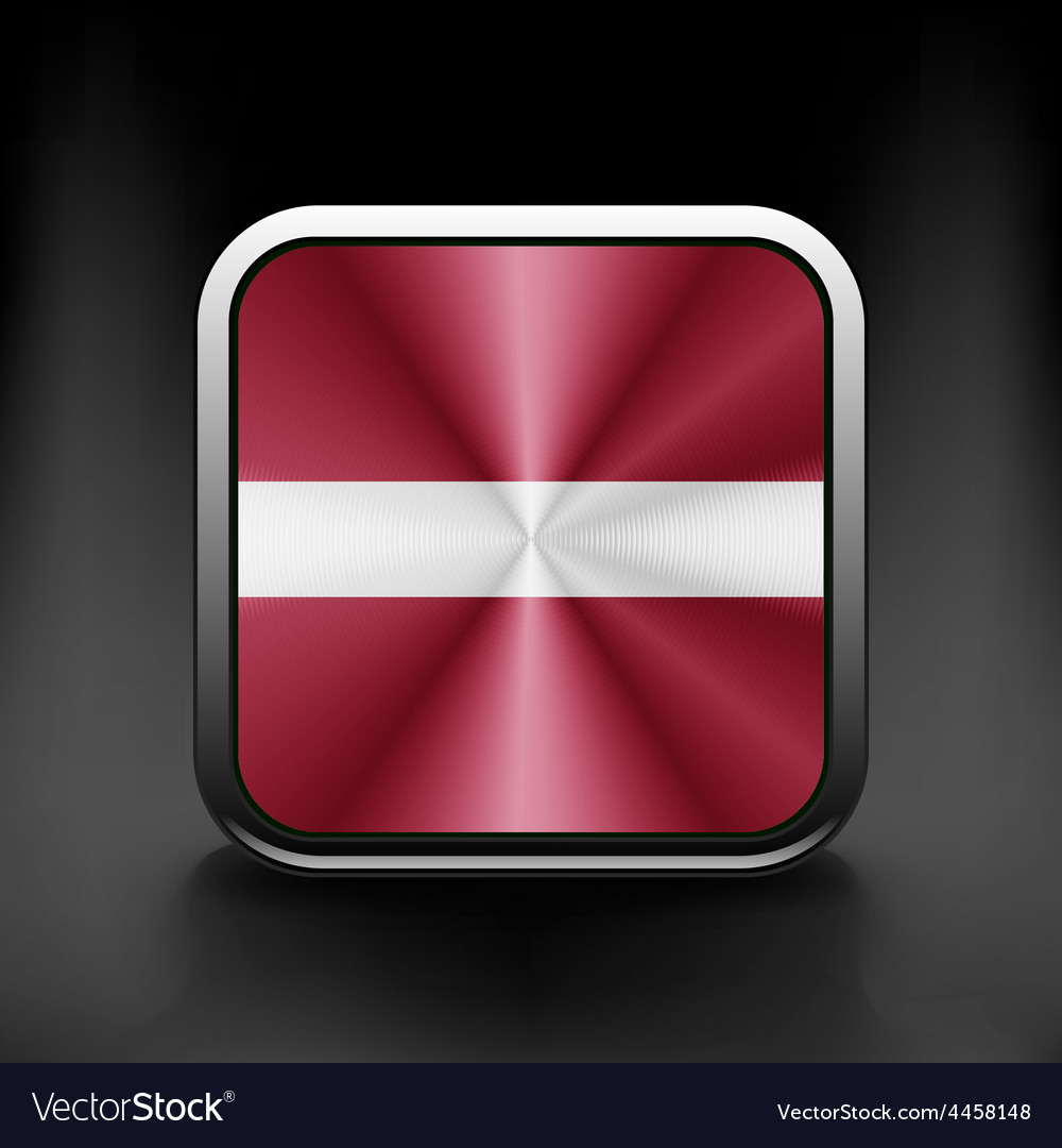 Latvia flag button icon country national vector image