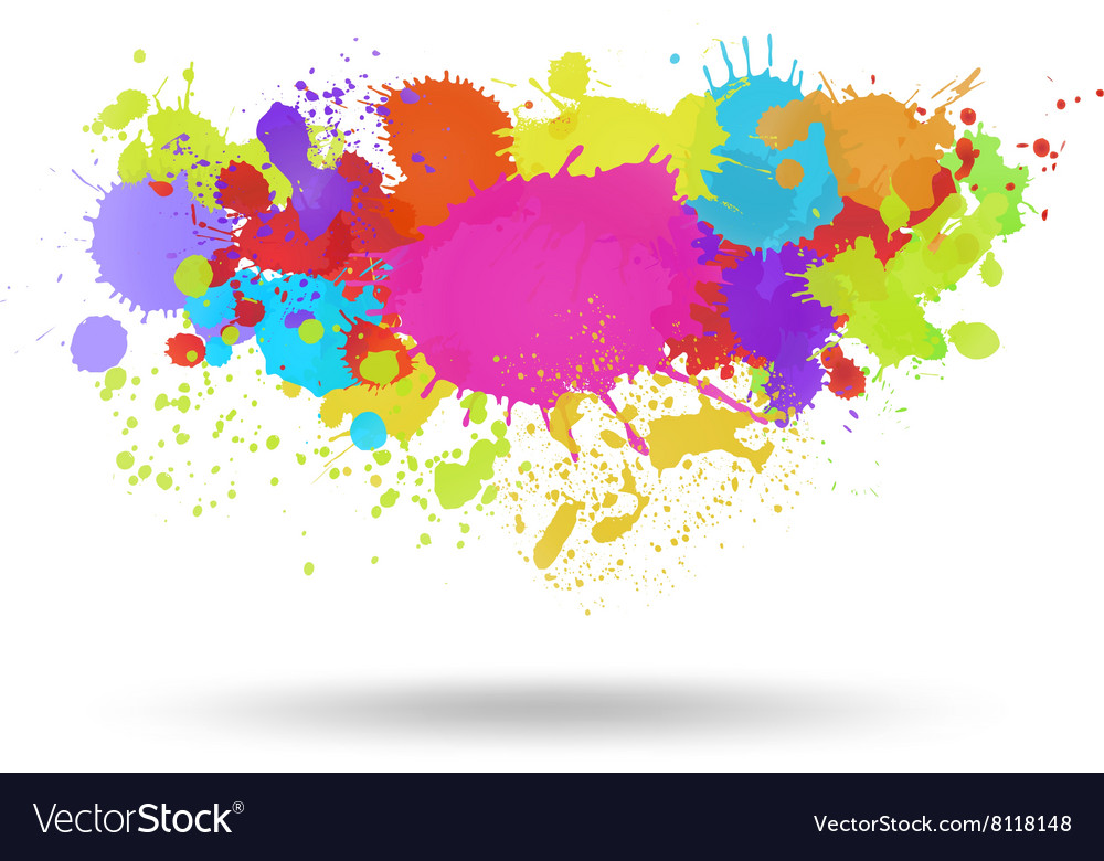 Multi color blots background