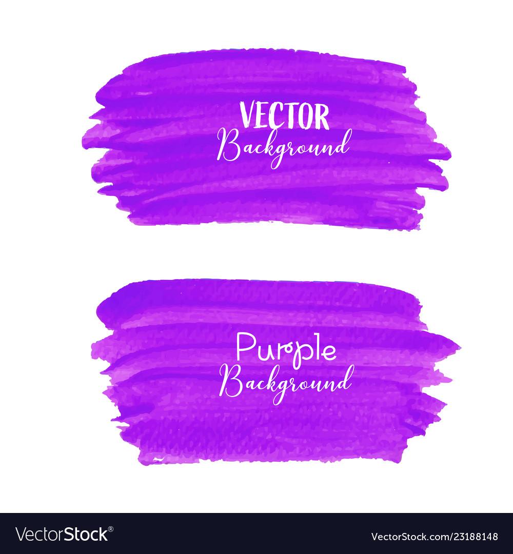 Purple brush stroke isolated on white background