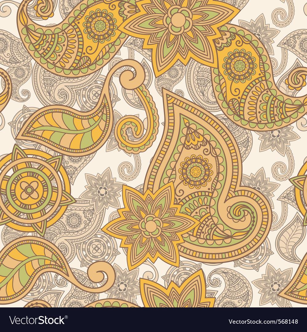 Seamless paisley pattern vector image