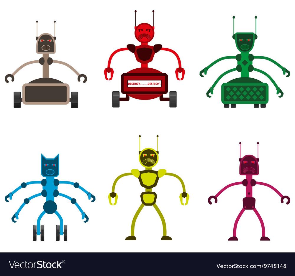 Set of angry robots