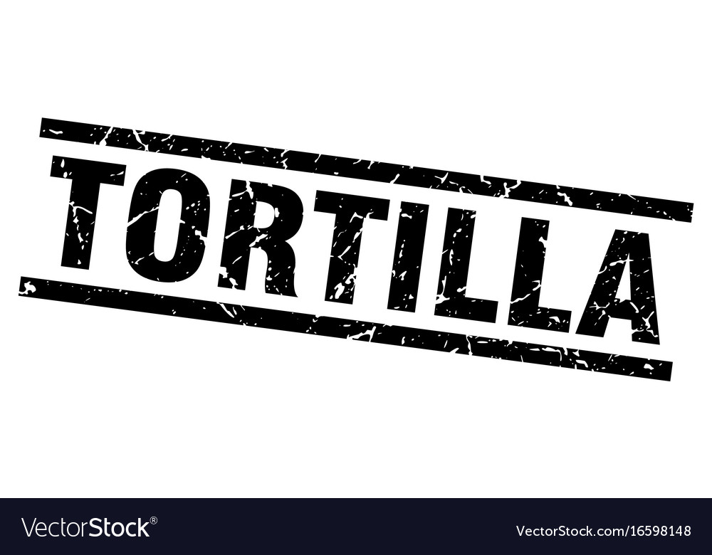 Square grunge black tortilla stamp