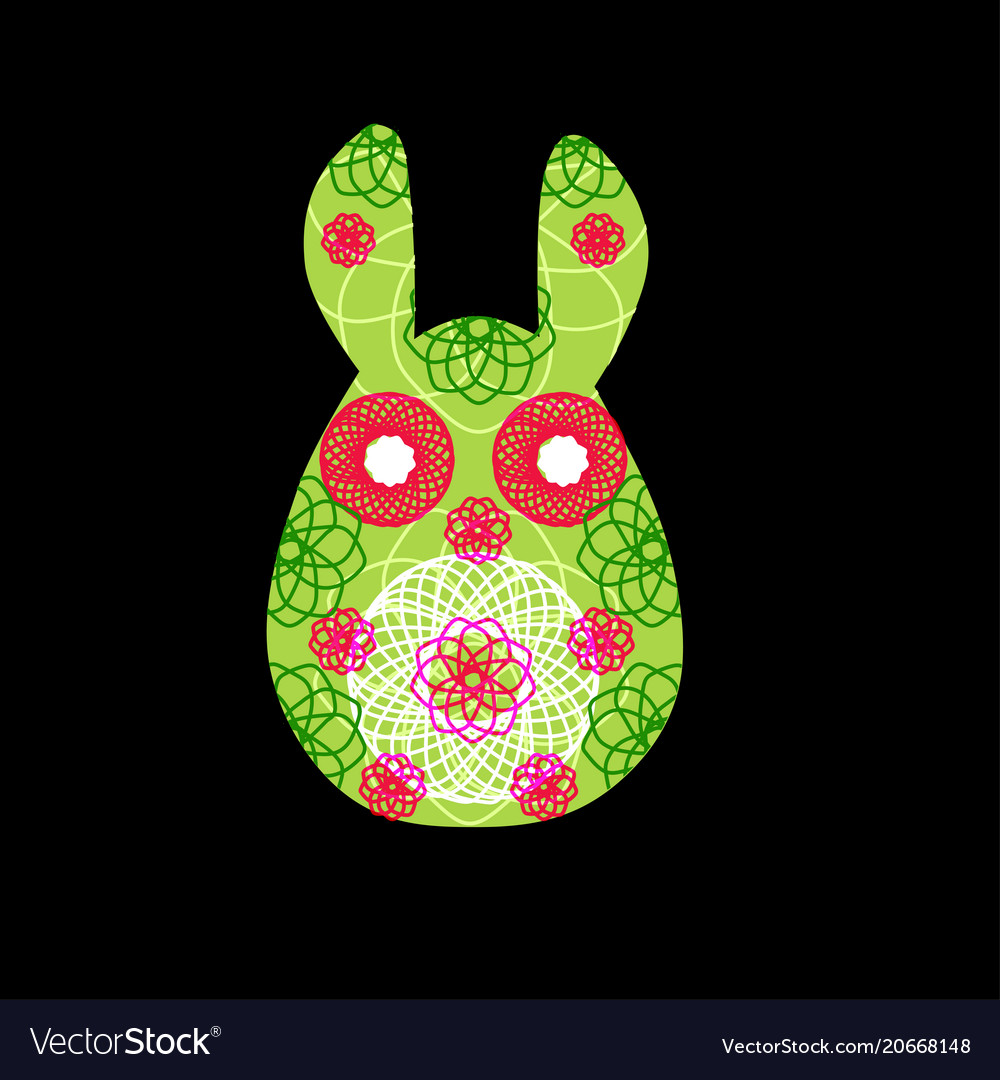 Unusual bunny for the easter design and cards