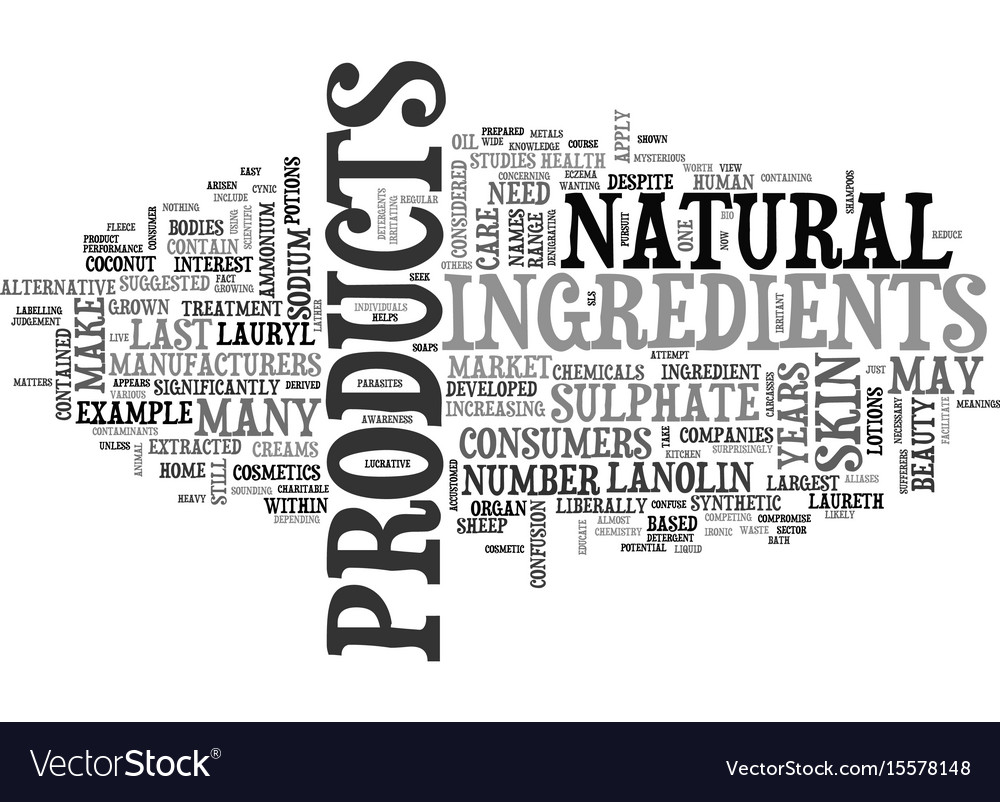 What goes into skin care products text word cloud