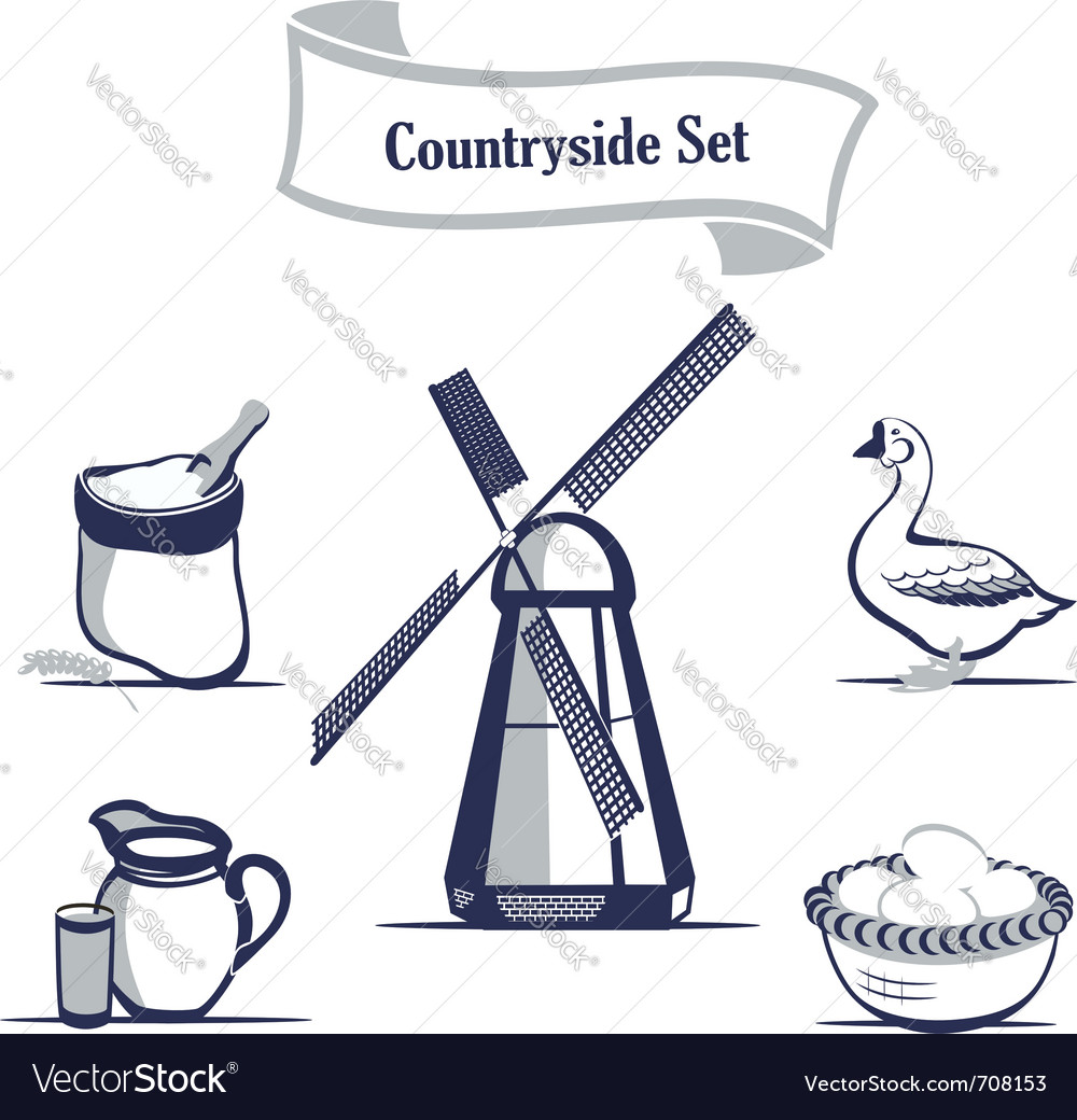 Agriculture production icons set vector image