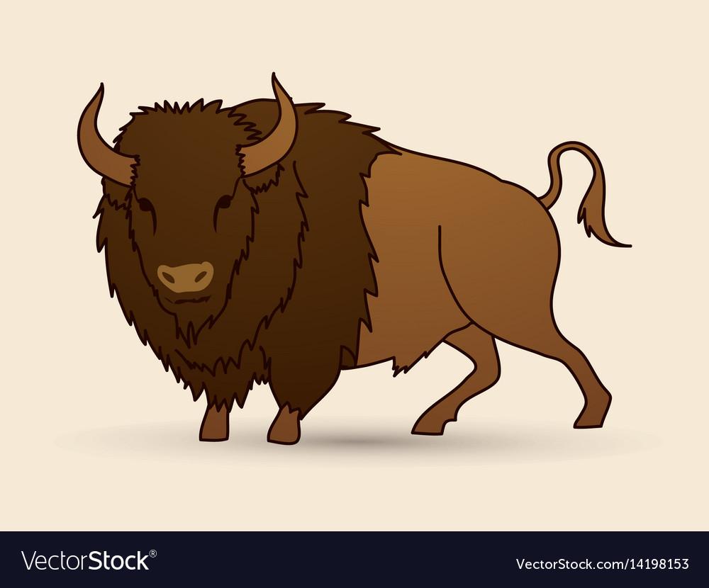Big buffalo standing graphic