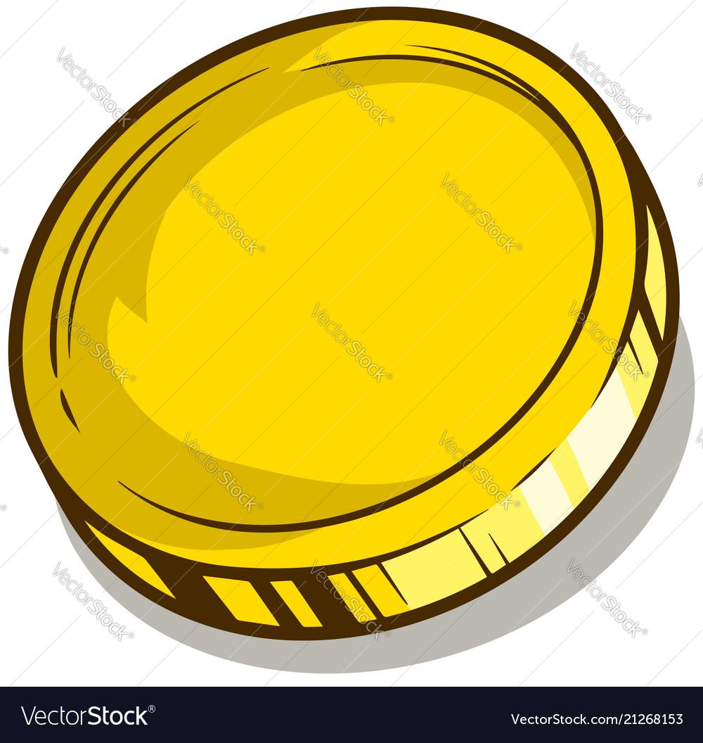 Cartoon gold empty coin icon