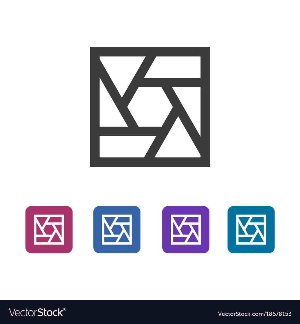 Common Square Shutter Icon