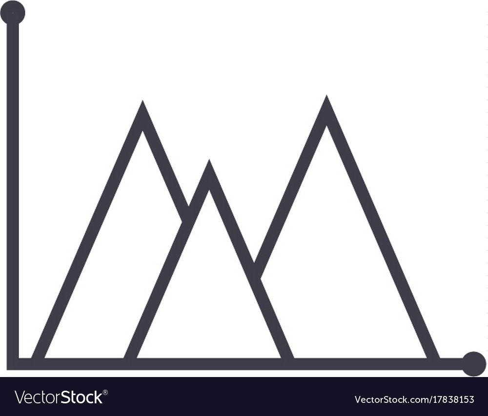 line graph type line icon sign royalty free vector image