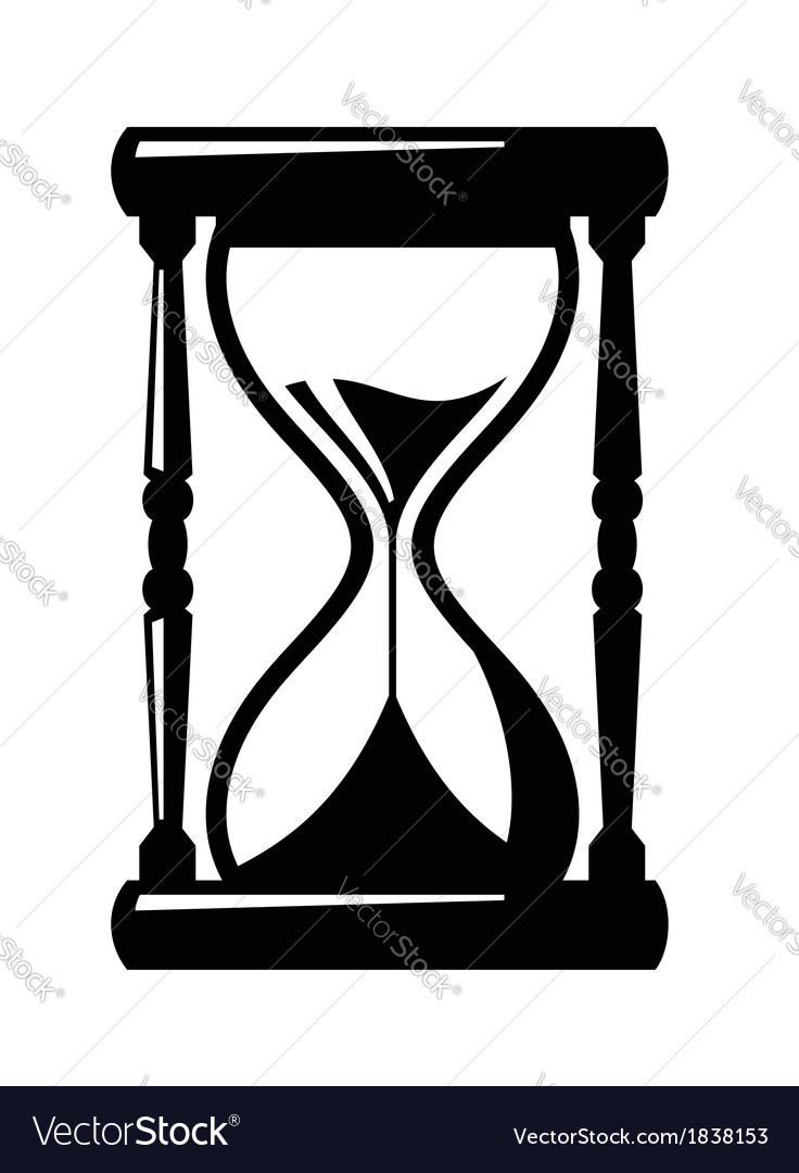 sand hourglass icon royalty free vector image vectorstock rh vectorstock com hourglass vector free hourglass vector image